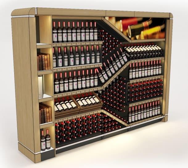 Витрины для хранения винных бутылок