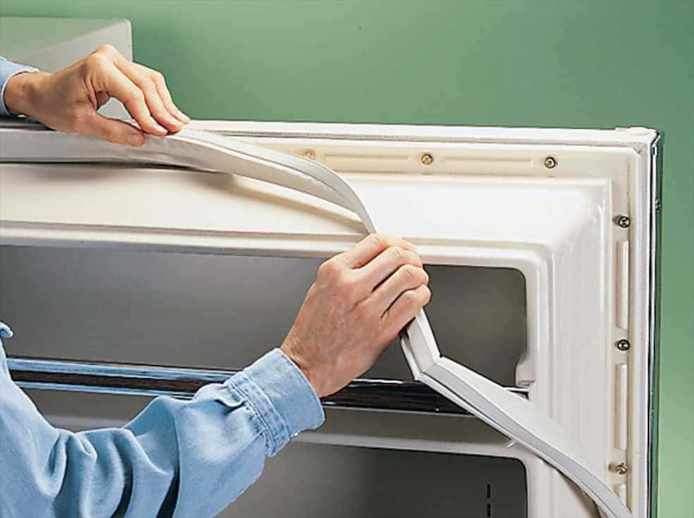 износ резинки-уплотнителя на двери холодильника