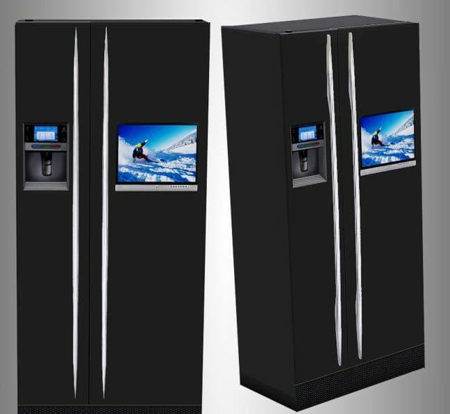 холодильники некоторых производителей уже укомплектованы встроенным телевизором