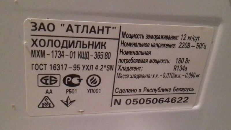 Основные классы энергопотребления холодильников