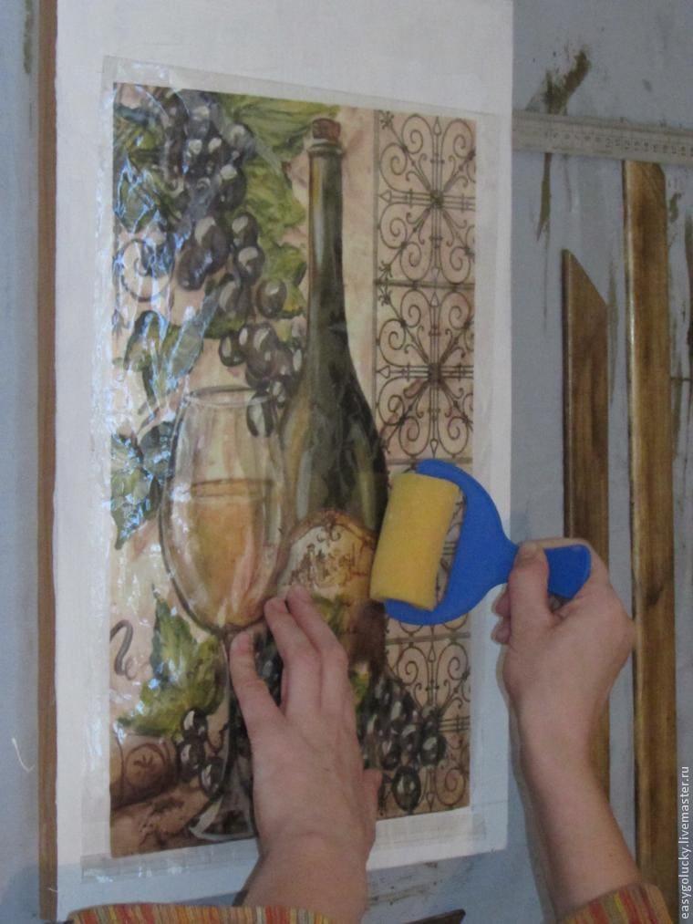 Покрытие лаком после нанесения рисунка