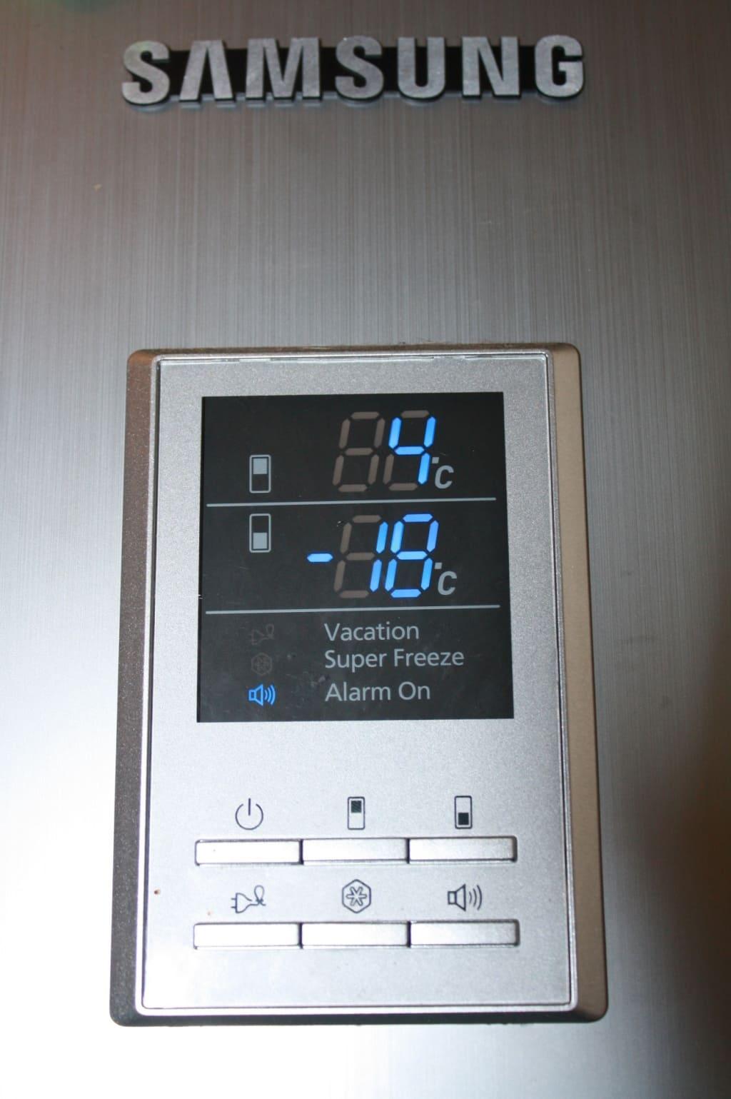 как регулировать температуру в холодильнике Samsung